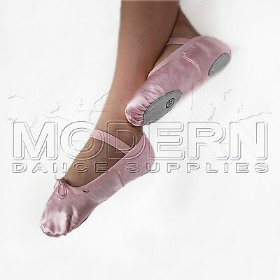 CLEARANCE Satin Ballet Shoes split sole wedding Excellent quality PINK