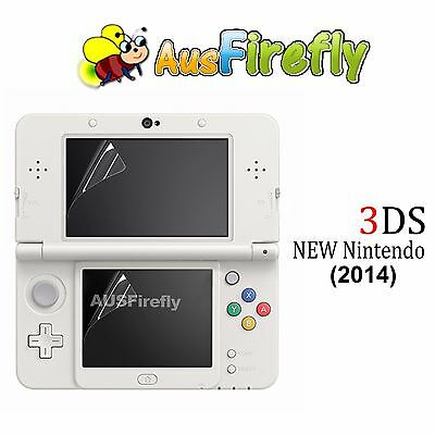 2in1 Set Top & Bottom LCD Screen Protector Cover Film For New Nintendo 3DS