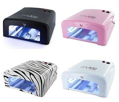 Mylee 36W UV Lamp Gel Polish Curing Nail Art  Dryer With Timer & 4 Bulbs