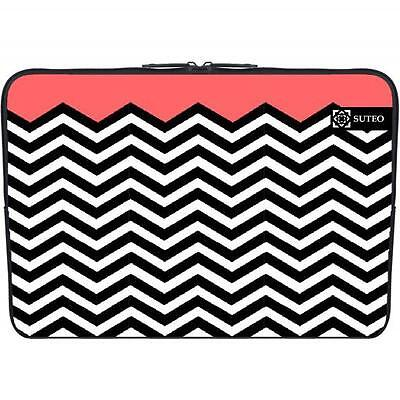 "1084 - Funda de neopreno MacBook / portatil 15.6"" pulgadas - galones rojos"