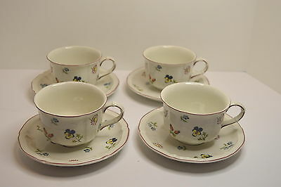 Villeroy & Boch Luxembourg  Petite Fleur Set of 4 Cups and Saucers