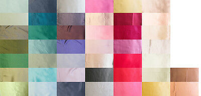 "100% Pure Silk Charmeuse Fabric 45"" Dressmaking Sewing 44 Color By The Yard"