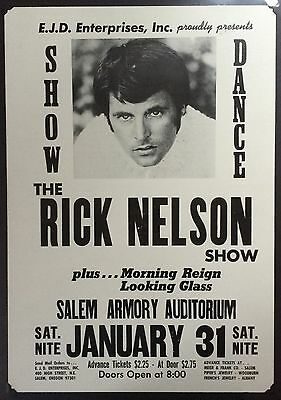 Rick Nelson 1970 ORIGINAL Boxing Style Concert Poster