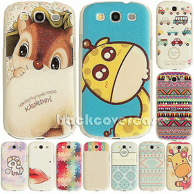 Fashion Cute Hard Back Skin Case Cover For Samsung Galaxy S3 S4 S5 Protector Hot