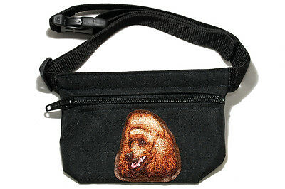 Embroidered Dog treat bag - for dog shows. Breed - Red Poodle