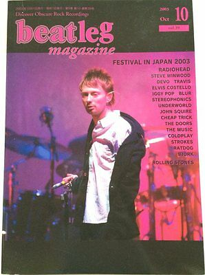 beatleg 10/2003 Japan Music Magazine Radiohead Underworld Elvis Costello Stones