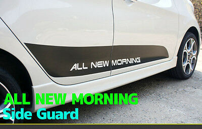Black Door Side Guard Point Decals Stickers for Kia 2012 2013 2014+ Picanto