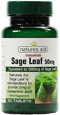 Sage Leaf  equivalent 500mg 90 tablets - May help Menopause sweats & hot flushes