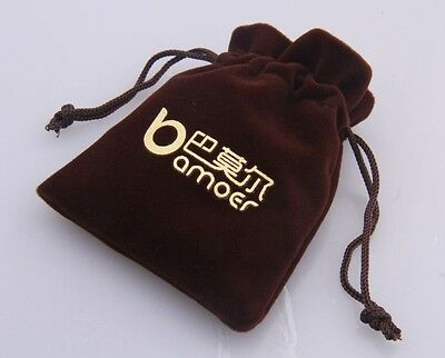 Brown Paper Gift Bag Pouches for Necklace Bracelet Earring Jewelry Packaging