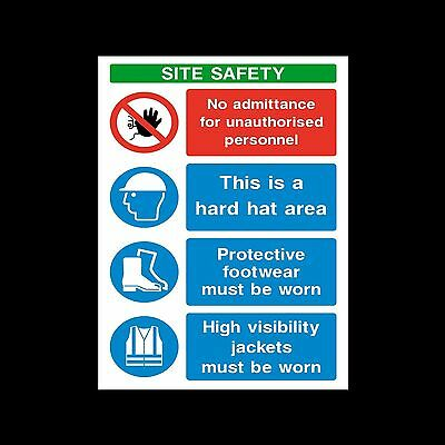 Site Safety Sign PPE - Sticker or 6mm Correx Sign - CSSS26