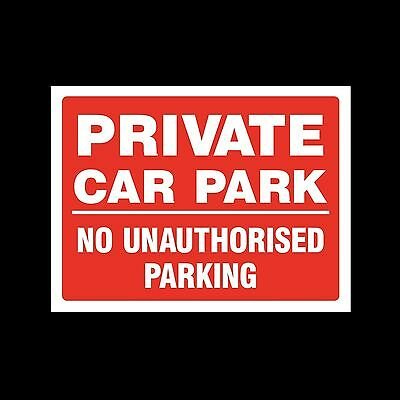 Private Car Park - Sticker or 6mm Correx Sign - Site Construction  - CSSS14