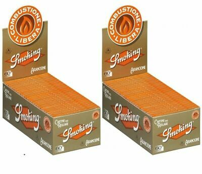 6000 Cartine SMOKING CORTE ORANGE arancioni corta 2 box 100 pz