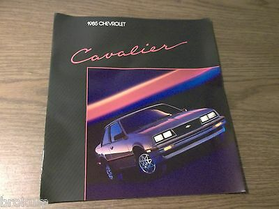"""Mint 1985 Chevrolet Cavalier Chevy Brochure 11"""" X 12""""  15 Pages (Box 294)"""