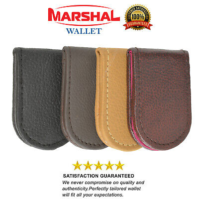 Men's New Leather Strong Magnetic Money Clip