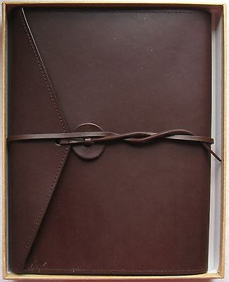 "Imitation Leather Moleskine Journal Diary ~120 9.25"" x 6.75"" Ruled Pages GiftBox"