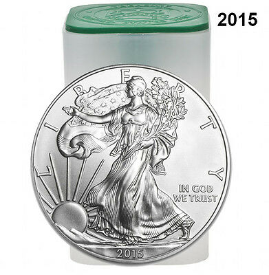 Roll of 20 - 2015 1 oz Silver American Eagle $1 Coin