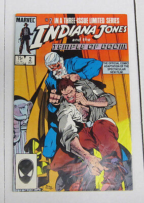 Indiana Jones And The Temple Of Doom #2 October 1984 By Marvel Comics Fine (6.0)