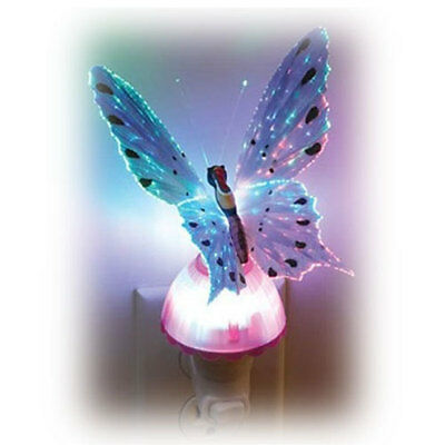 Fiber Optic Color Changing Butterfly Night Light Lamp Kids USA Seller Free Ship