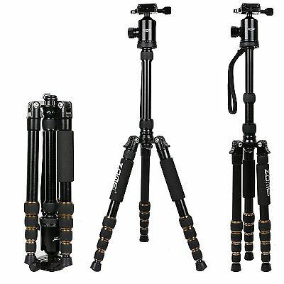 ZOMEI 669 Professional Aluminium Tripod Monopod&Ball Head Travel For DSLR Camera