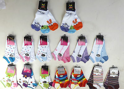 6 Pairs Girls  Ladies Trainer socks size 4-6 and 4-8  uk