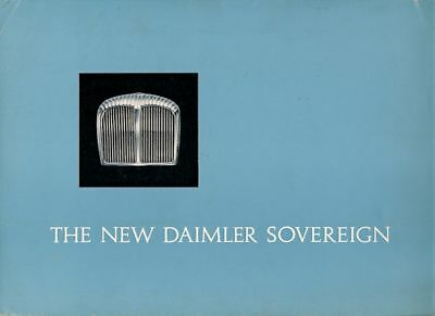 Daimler Sovereign 420 1966-67 UK Market Foldout Sales Brochure