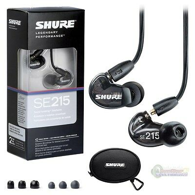 SHURE SE215 SOUND ISOLATING IN-EAR EARPHONES - BLACK