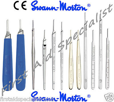 Genuine Swann Morton Surgical Scalpel Blade Handles No.3 & 4 Fitment Full Range