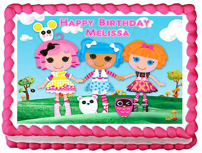 LALALOOPSY Edible image Cake topper party decoration