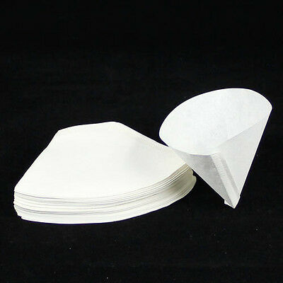 40 x Hand drip paper coffee cup espresso makers filter paper fit 4-7 cups