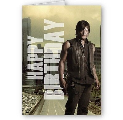 The Walking Dead Cast or Personalised Rick & Daryl / Carl A5 Birthday Cards