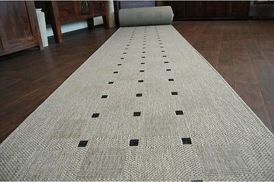 Runner Rugs, Sizal Collection, Carpet Runner For Stairs Silver 70-120cm (20079)