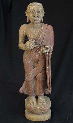 Old Standing Monk Statue | Burmese Statue of Standing Monk on Sale