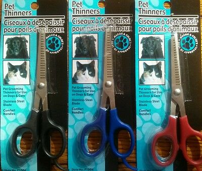 Pet Hair Trimmer Thinner Grooming Scissors Shears for Dogs & Cats New Stainless
