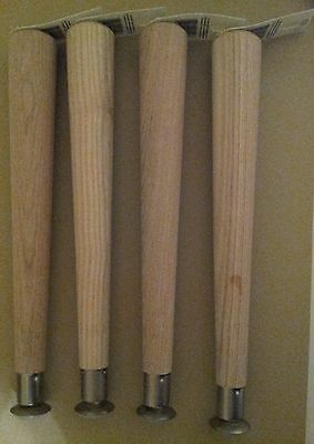 Set of 4 Brand New Mid Century Style Furniture Taper Table Legs w/ Brackets