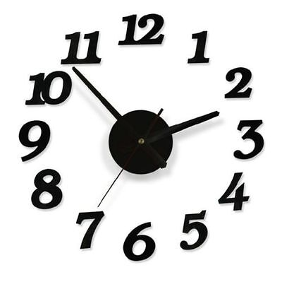 DIY Self Adhesive Modern Room Interior Decoration Number Digit & Dot Wall Clock