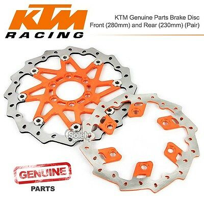 KTM Genuine Parts Brake Disc Rotor Rear230mm+Front280mm 6 Holes Motorcycle Pair