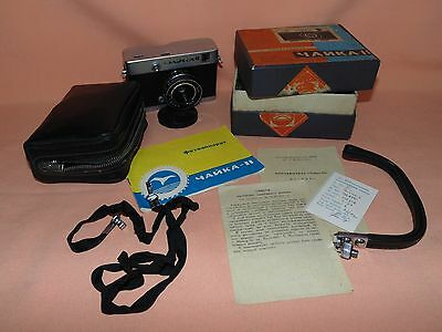 CHAIKA II 2 Russian Half Frame camera USSR Camera with BOX  Excellent!