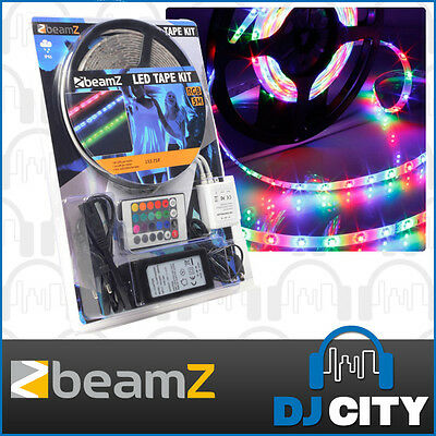 Waterproof 5M RGB 300 LED Adhesive Tape Strip Light with power supply  Remote