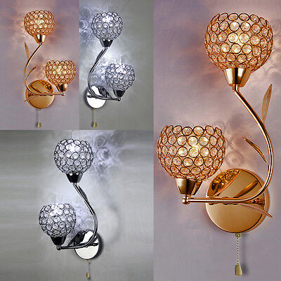 Luxurious quality Dream bedside lamp Chrome&Crystal Glass Wall Light Chandelier