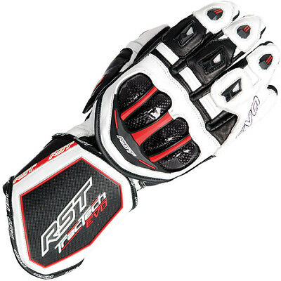 RST Tractech Evo CE Leather Motorcycle Gloves - White