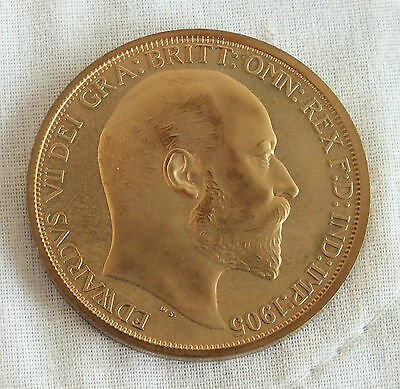 1905 Edward Vii Scotland Golden Proof Pattern Crown