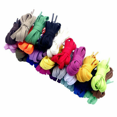 Kids Adult Shoelace Flat  Shoe Lace Shoestrings for Sneaker Many Colors Lengths