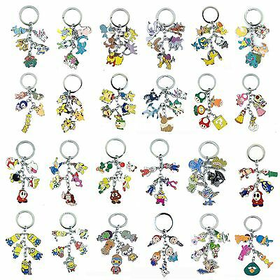 Metal Keychain Pokemon Super Mario Kirby Despicable Me ETC Multiple Optional