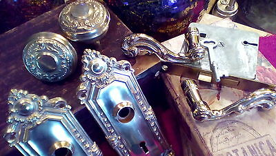 Beautiful Vintage Victorian Set COMPLETE w/Mortise Lock & Key - YOU Choose BRASS