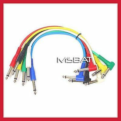"""Patch Cables 1/4"""" Angle/Straight RA/ST 6-Pack 1ft"""