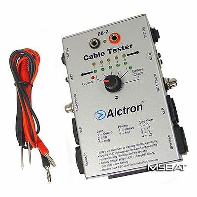 "Alctron DB-2 Audio Cable Tester Speakon XLR RCA 1/4"" TRS/TS More NEW"