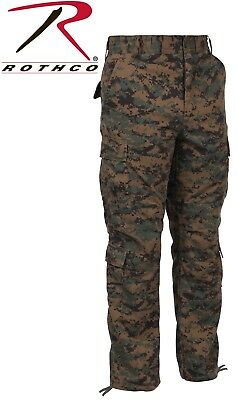Vintage Woodland Digital Camo Paratrooper Pants Tactical Military BDU 2366 #2
