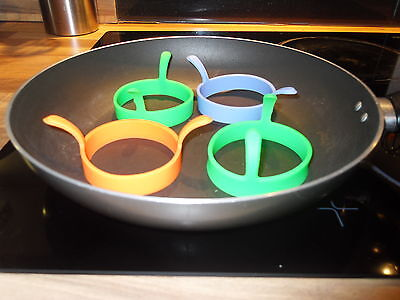 silicone egg frying rings fry fried poacher mould pancakes ring