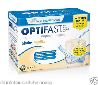 optifast VLCD Vanilla Milkshakes ( 18 Sachets per Box ) PRemium NEW 53 gm Each