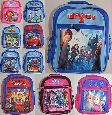 NEW Boy Girl Frozen Cars Lego Dragon Thomas Monster Spider school bag / Backpack
